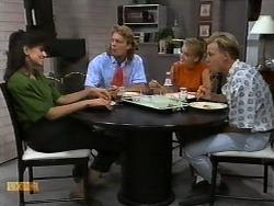 Poppy Skouros, Henry Ramsay, Bronwyn Davies, Scott Robinson in Neighbours Episode 0939