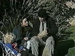 Sky Bishop, Kerry Bishop, Joe Mangel in Neighbours Episode 1021