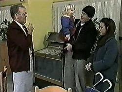 Harold Bishop, Sky Bishop, Joe Mangel, Kerry Bishop in Neighbours Episode 1021