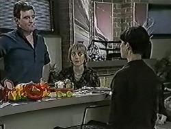 Des Clarke, Jane Harris, Hilary Robinson in Neighbours Episode 1025