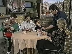 Sky Bishop, Paul Robinson, Gail Robinson, Jamie Clarke, Des Clarke, Jane Harris in Neighbours Episode 1025