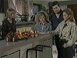 Jane Harris, Sharon Davies, Des Clarke, Bronwyn Davies in Neighbours Episode 1025