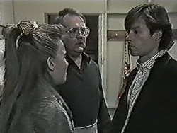 Bronwyn Davies, Harold Bishop, Mike Young in Neighbours Episode 1027
