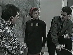Des Clarke, Gail Robinson, Paul Robinson in Neighbours Episode 1027