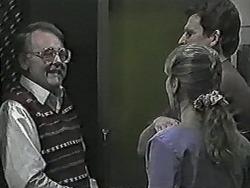 Harold Bishop, Jane Harris, Des Clarke in Neighbours Episode 1028