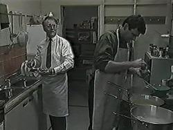Harold Bishop, Des Clarke in Neighbours Episode 1028