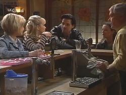 Joanna Hartman, Annalise Hartman, Sam Kratz, Cody Willis, Lou Carpenter in Neighbours Episode 2461
