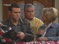 Stonie Rebecchi, Lou Carpenter, Joanna Hartman in Neighbours Episode 2461
