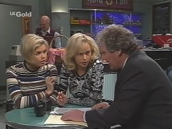 Joanna Hartman, Colin Taylor, Annalise Hartman, Detective Illich in Neighbours Episode 2461