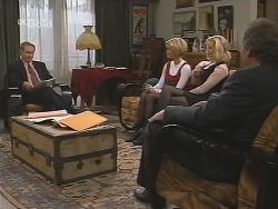 Roger Reynolds, Joanna Hartman, Annalise Hartman, Detective Illich in Neighbours Episode 2462