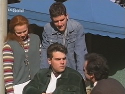 Ren Gottlieb, Mark Gottlieb, Luke Handley, Karl Kennedy in Neighbours Episode 2463
