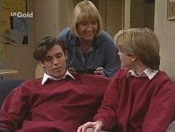Malcolm Kennedy, Angie Rebecchi, Danni Stark in Neighbours Episode 2464