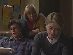 Malcolm Kennedy, Angie Rebecchi, Danni Stark in Neighbours Episode 2465