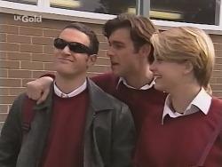 Stonie Rebecchi, Malcolm Kennedy, Danni Stark in Neighbours Episode 2465