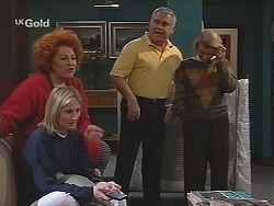 Cheryl Stark, Jen Handley, Lou Carpenter, Helen Daniels in Neighbours Episode 2486