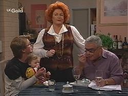 Brett Stark, Louise Carpenter (Lolly), Cheryl Stark, Lou Carpenter in Neighbours Episode 2488