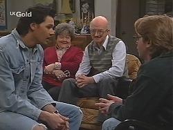 Sam Kratz, Marlene Kratz, Colin Taylor, Brett Stark in Neighbours Episode 2488