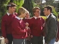 Malcolm Kennedy, Danni Stark, Libby Kennedy, Brett Stark, Stonie Rebecchi in Neighbours Episode 2491