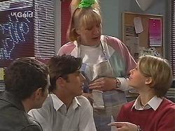 Stonie Rebecchi, Malcolm Kennedy, Angie Rebecchi, Danni Stark in Neighbours Episode 2491