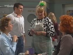Judy Bergman, Stonie Rebecchi, Angie Rebecchi, Cheryl Stark in Neighbours Episode 2493