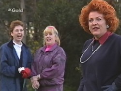 Judy Bergman, Angie Rebecchi, Cheryl Stark in Neighbours Episode 2493