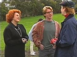 Cheryl Stark, Brett Stark, Judy Bergman in Neighbours Episode 2495