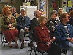 Cheryl Stark, Patrick Kratz, Colin Taylor, Helen Daniels, Marlene Kratz, Annalise Hartman, Brett Stark in Neighbours Episode 2496