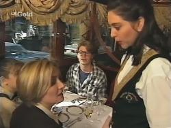 Hannah Martin, Jen Handley, Brett Stark, Waitress in Neighbours Episode 2498