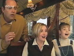 Philip Martin, Jen Handley, Hannah Martin in Neighbours Episode 2498