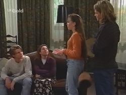 Billy Kennedy, Melissa Drenth, Libby Kennedy, Sonny Hammond in Neighbours Episode 2498
