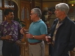 Vikram Chatterji, Lou Carpenter, Patrick Kratz in Neighbours Episode 2499