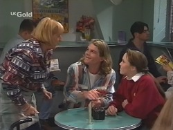 Angie Rebecchi, Sonny Hammond, Libby Kennedy in Neighbours Episode 2500