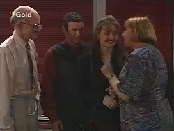Colin Taylor, Stonie Rebecchi, Dianne Lake, Angie Rebecchi in Neighbours Episode 2500