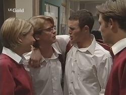 Danni Stark, Brett Stark, Stonie Rebecchi, Malcolm Kennedy in Neighbours Episode 2501