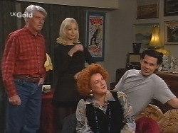 Patrick Kratz, Annalise Hartman, Cheryl Stark, Sam Kratz in Neighbours Episode 2502