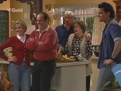 Jen Handley, Philip Martin, Patrick Kratz, Marlene Kratz, Sam Kratz in Neighbours Episode 2502