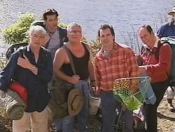 Patrick Kratz, Sam Kratz, Lou Carpenter, Karl Kennedy, Philip Martin in Neighbours Episode 2502
