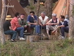 Karl Kennedy, Running Rivers, Sam Kratz, Lou Carpenter, Patrick Kratz, Philip Martin in Neighbours Episode 2503