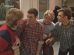 Brett Stark, Stonie Rebecchi, Danni Stark, Malcolm Kennedy in Neighbours Episode 2505