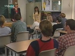 Danni Stark, Malcolm Kennedy, Anne Teschendorff, Susan Kennedy, Brett Stark, Stonie Rebecchi in Neighbours Episode 2505