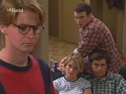 Brett Stark, Danni Stark, Stonie Rebecchi, Malcolm Kennedy in Neighbours Episode 2506