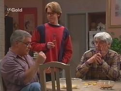 Lou Carpenter, Brett Stark, Patrick Kratz in Neighbours Episode 2506
