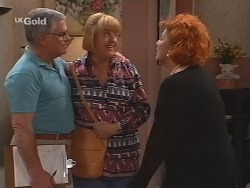 Lou Carpenter, Angie Rebecchi, Cheryl Stark in Neighbours Episode 2509