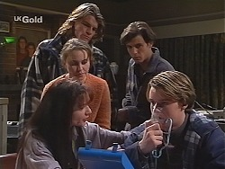 Susan Kennedy, Libby Kennedy, Sonny Hammond, Malcolm Kennedy, Billy Kennedy in Neighbours Episode 2510