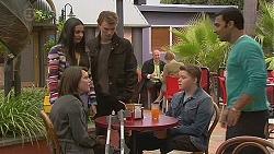Rani Kapoor, Sophie Ramsay, Harley Canning, Callum Rebecchi, Ajay Kapoor in Neighbours Episode 6527
