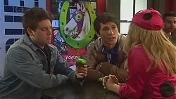 Chris Pappas, Aidan Foster, Natasha Williams in Neighbours Episode 6527