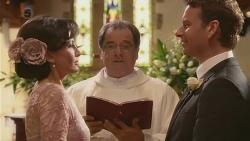 Vanessa Villante, Father Vincent Guidotti, Lucas Fitzgerald in Neighbours Episode 6532