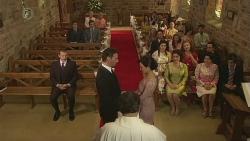 Toadie Rebecchi, Lucas Fitzgerald, Father Vincent Guidotti, Vanessa Villante in Neighbours Episode 6532