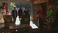 Callum Rebecchi, Rani Kapoor, Sophie Ramsay, Kate Ramsay, Georgia Brooks in Neighbours Episode 6532