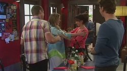 Toadie Rebecchi, Sonya Rebecchi, Vanessa Villante, Lucas Fitzgerald in Neighbours Episode 6536